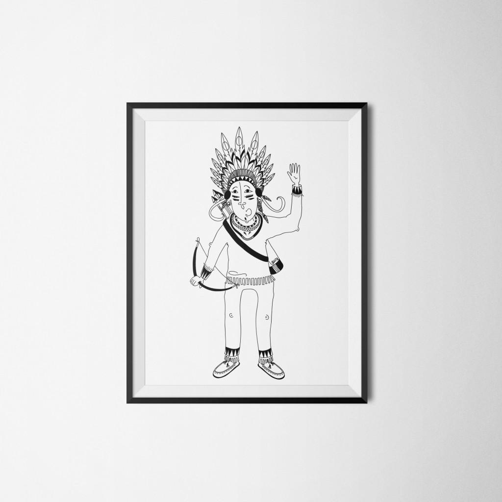 Petit Indien • Illustration Vectorielle
