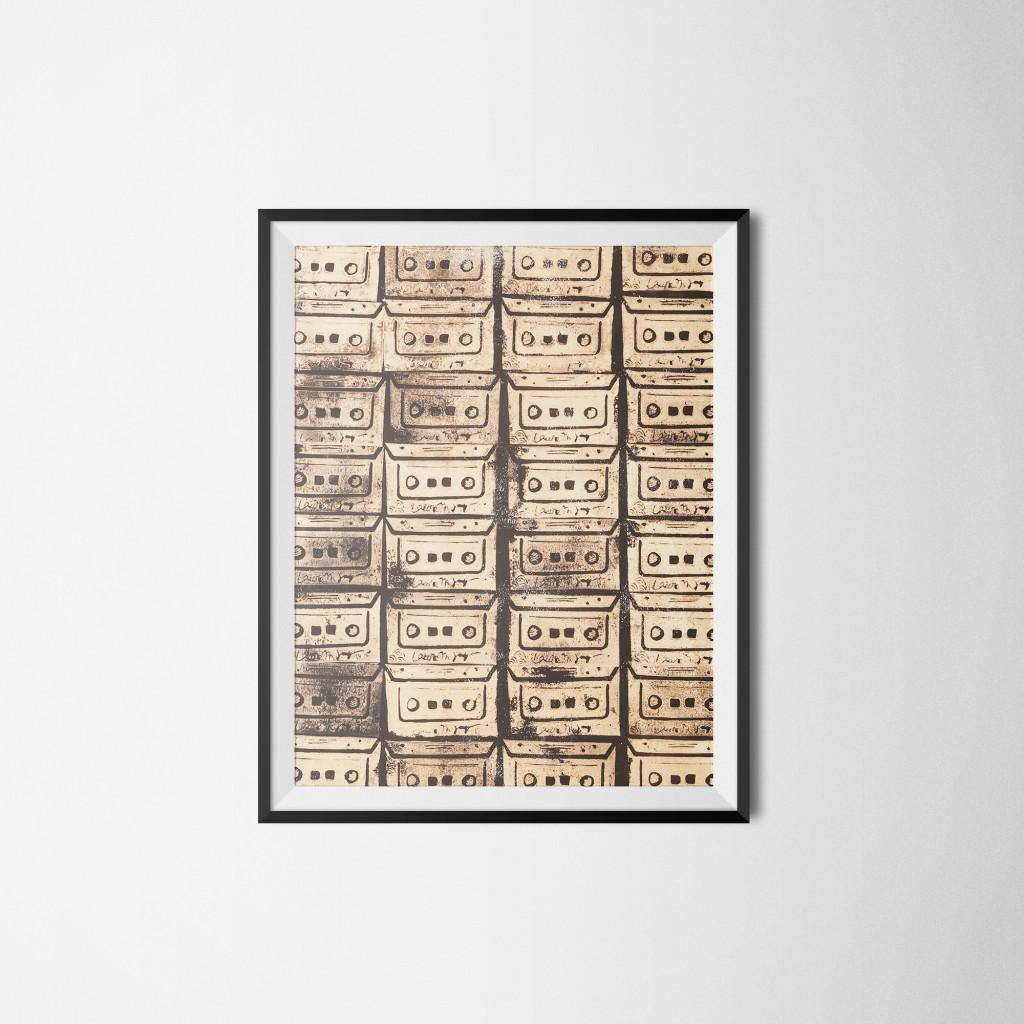 K7 • 50x60cm, Linogravure sur canson